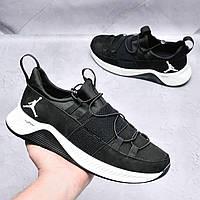 Мужские кожаные кроссовки Jordan Черные