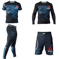 Мужской компрессионный костюм Reebok UFC 4в1 : Рашгард, шорты, леггинсы, футболка