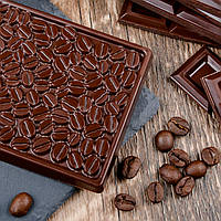 """Силиконовая формы для шоколада """"Кофейные зерна"""", кондитерская форма"""