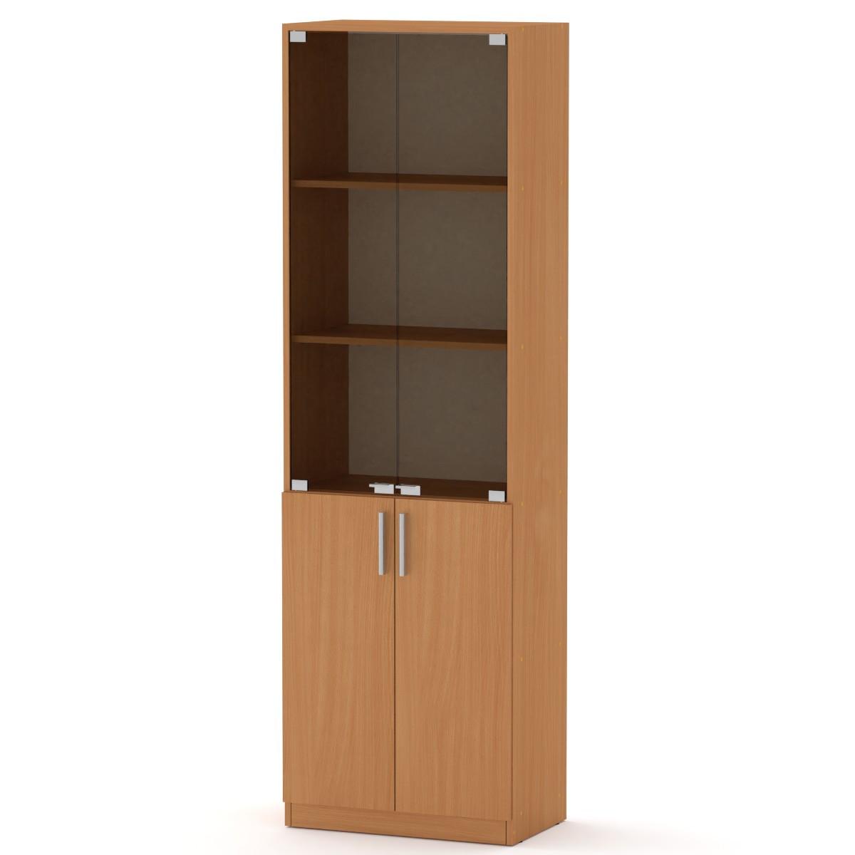 Шкаф книжный КШ-6 бук Компанит (60х37х195 см)