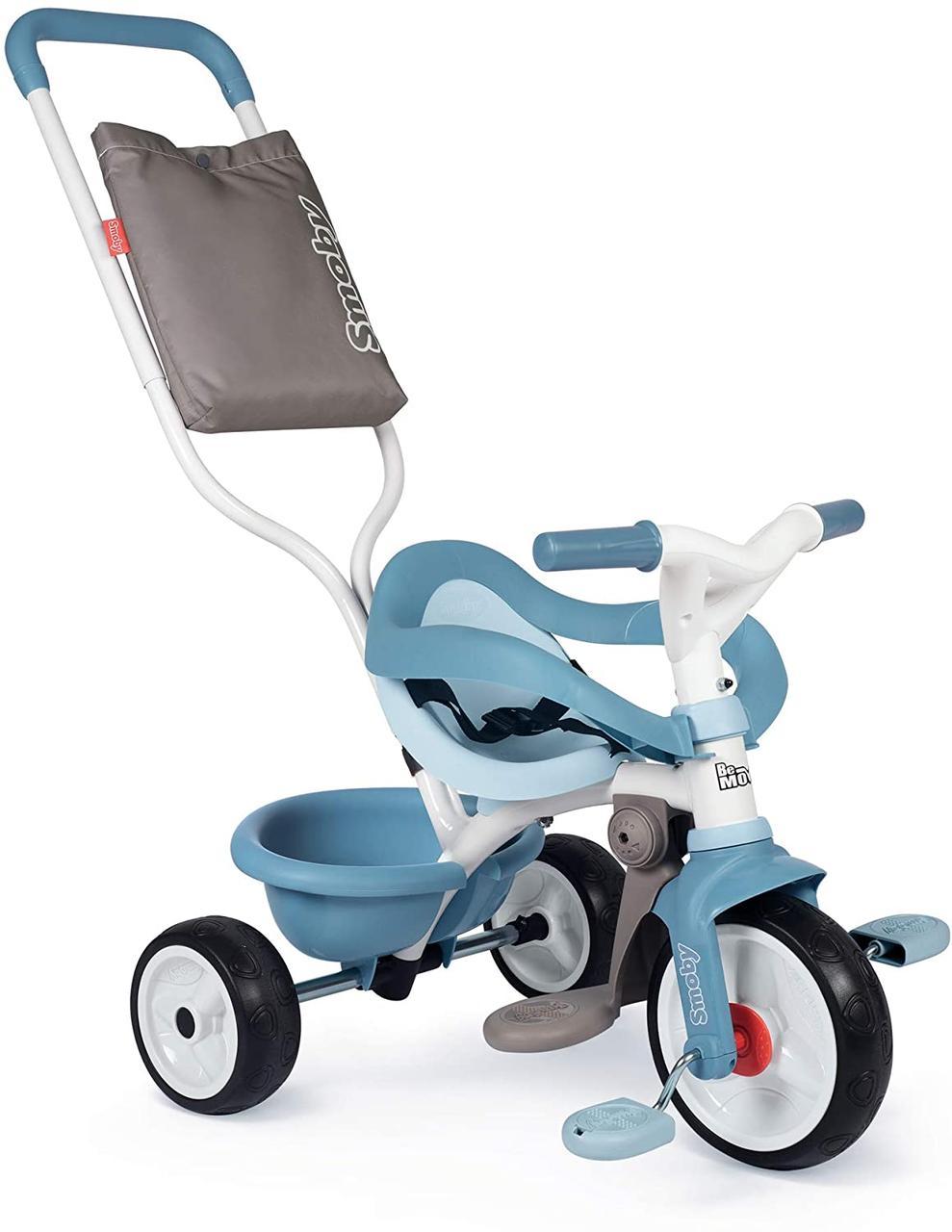 Дитячий велосипед з ручкою Smoby 2 в 1 Бі Муві блакитний Be Move Bleu 740414