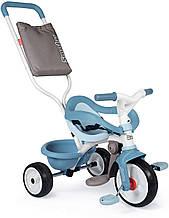 Детский велосипед с ручкой Smoby 3 в 1 Би Муви синий Be Move Bleu 740414