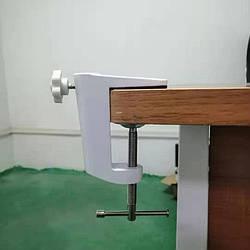 Струбцина для настольной лампы, метал, белая, кранштейн, крепеж, зажим, для крепления к столу