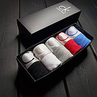 Набор мужских трусов боксеры Calvin Klein 5 штук хлопок подарочный комплект в коробке