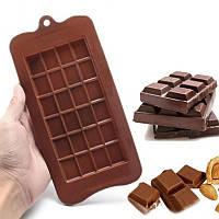 """Силиконовая формы для шоколада """"Плитка шоколада"""" 21,5х10,5 см, кондитерская форма"""