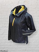 Стильна жіноча демісезонна коротка куртка SK-32, темно-синя