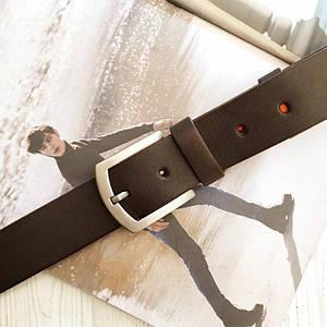 Мужской классический кожаный ремень Коричневый