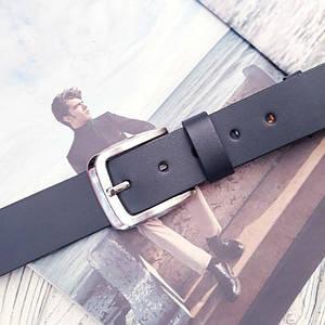 Мужской классический кожаный ремень Серый