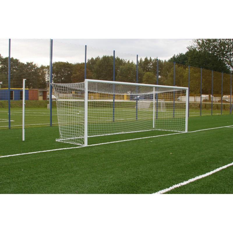 Сетка футбольная для футбольных ворот безузловая D-3 мм, яч.120 мм, 2,5*7,5*1,5 м