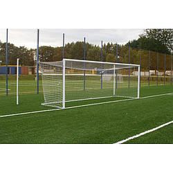 Сітка футбольна для футбольних воріт безузловая D-3 мм, яч.120 мм, 2,5*7,5*1,5 м