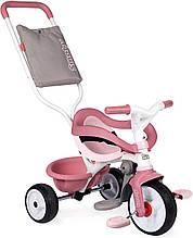Детский велосипед с ручкой Smoby 3 в 1 Би Муви розовый Be Move 740415