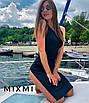 Красиве літнє плаття з розрізом на стегні, фото 2