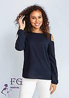 Стильная шифоновая блузка с открытыми плечами 003В/07, фото 1
