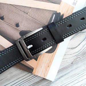 Мужской классический кожаный ремень Черный