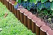 Палисад Высокий Palisada MAXI Темно-коричневый 2.1 метра. - Садовый бордюр для газона, клумбы, бордюрная лента, фото 4