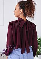 Повітряна блуза з бантом 010В/07, фото 1