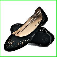 .Женские Летние Балетки Черные Мокасины Туфли (размеры: 36,37,38,39) - 00-1