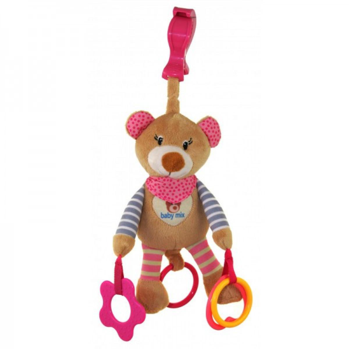 Іграшка підвіска плюшева з вібро Baby Mix STK-16300 Ведмедик