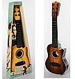 Гитара детская игровая 898-28  дерево, струны 6 шт,, медиатор, 3 цвета, фото 3