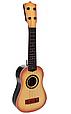 Гитара детская игровая 898-28  дерево, струны 6 шт,, медиатор, 3 цвета, фото 2