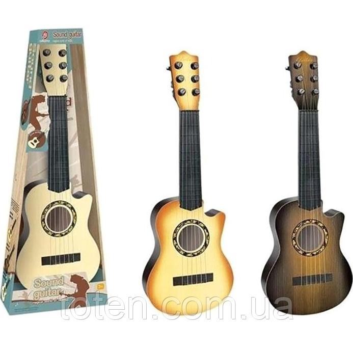 Гітара дитяча ігрова 898-28 дерево, струни 6 шт,, медіатор, 3 кольори