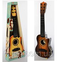Гитара детская игровая 898-28ABC  дерево, струны 6 шт,, медиатор, 3 цвета