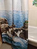 Шторка для кутовою ванною Туреччина Тропік 180х200 см, фото 3