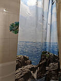 Шторка для кутовою ванною Туреччина Тропік 180х200 см, фото 2