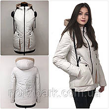 """Демісезонна куртка-жилет трансформер """"Вест"""", молочно-біла"""
