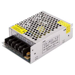 Блокпитания для светодиодной ленты 12 В 3,2 А (40 Вт) 110-220 В