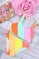 Купальник детский раздельный #BH 960 Размеры 4-10 лет Разноцветный
