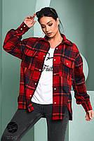 Стильна жіноча сорочка вільного крою в клітку, застібається на кнопки з 42 по 48 розмір, фото 10