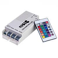 Контроллер музыкальный для  RGB ленты  9А/108Вт (RR 24 кнопки) №19