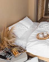 Белый комплект постельного белья с хлопка