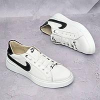 Мужские кожаные кроссовки Nike Белые