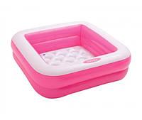 ✅ Детский надувной бассейн квадратный с надувным дном 5710 Intex 85х85х23 см, от 1 года, 57 л, для дачи