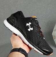 Мужские кроссовки Under Armour Speedform Gemini весна осень демисезонные в сетку черные. Живое фото. Реплика