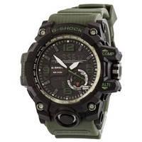 Часы наручные мужские спортивные электронные Casio G-Shock GG-1000, кварцевые часы зелёные с черным