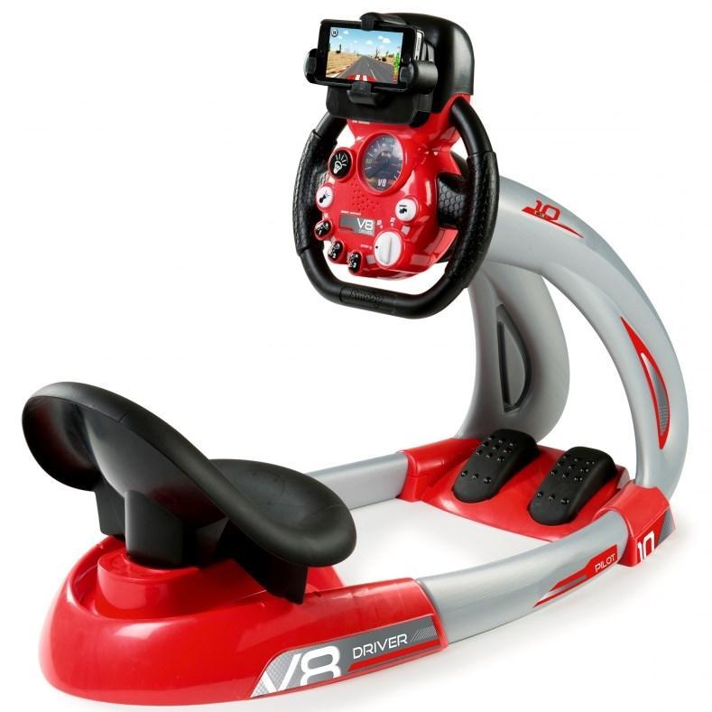 Игрушка руль музыкальный с сиденьем и педалями, свет, звук, от 3 лет, Smoby