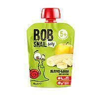 Пюре фруктове яблуко-банан 90г ТМ Snail Bob