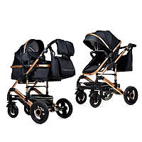 Коляска 3 в 1 NINOS FREELANDER BLACK