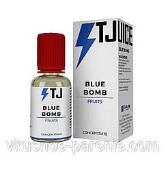 Ароматизатор T-juice Blue Bomb Concentrate 30 мл (Голубая малина Ментол)