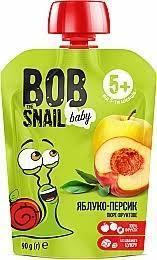 Пюре фруктове яблуко-персик 90г ТМ Snail Bob