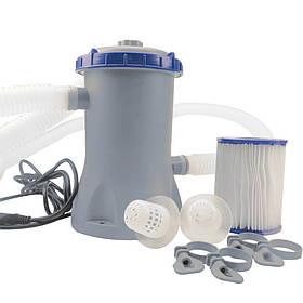 Картріджний фільтр-насос грубої очистки Bestway 58386 | Фільтраційна установка 3 м3/ч