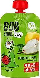 Пюре фруктове яблуко-груша 90г ТМ Snail Bob