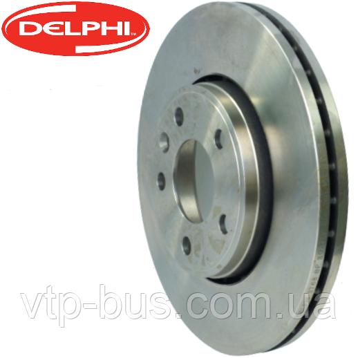 Гальмівний диск передній на Renault Trafic / Opel Vivaro (2001-2014) Delphi (Великобританія) BG3768C