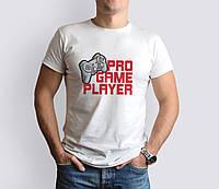 Белая Мужская футболка с принтом Gamer