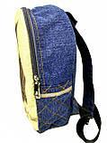 Джинсовый рюкзак Сова, фото 3