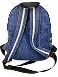 Джинсовый рюкзак Сова, фото 4