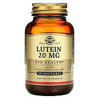 Лютеин, 20 мг, Lutein, Solgar, 60 гелевых капсул